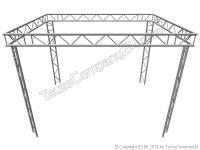 ALUTRUSS Bilock BQ2 2-Punkt Messestand vertikal 5 x 4 x 2,5m