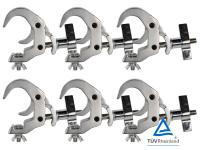 Duratruss DT Selflock Clamp 6er-Set silber für 50mm Rohr