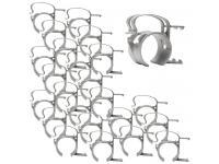 SNAP Befestigungsklammer 24er-Set silber für Steckdosenleiste