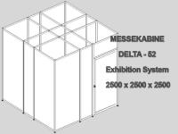Messekabine DELTA-52/5 2,5 x 2,5 x 2,5m abschließbar