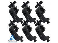 Duratruss DT Trigger Clamp 6er-Set black für 50mm Rohr