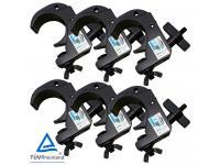 Duratruss DT Snap Clamp 6er-Set black für 50mm Rohr