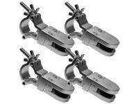 Duratruss DT Plattenhalter 4er-Set 10-16mm mit Schelle für 35mm Rohr