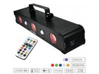 EUROLITE LED Multi FX Laser Bar RGBAW inkl. IR-Fernbedienung