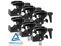 Duratruss DT Universal Clamp 6er-Set inkl. TV-Zapfen