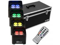 EUROLITE Set 4x LED TL-4 Trusslight+Case inkl. IR-Fernbedienung