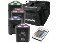 EUROLITE Set 4x AKKU TL-3 QuickDMX+Softbag inkl. Fernbedienung
