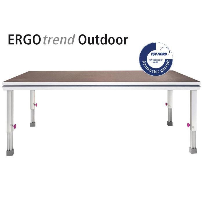 Ergo Trend Buhnenelement 100x200cm Mit Siebdruckplatte Outdoor