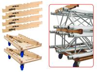 ALUTRUSS Transportwagen-Set TRIO inkl. 6 Rollen 10xStapelleiste