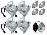 Scheinwerfer-Set 4xPAR-56 Pro Short alu inkl. Leuchtmittel MFL/T