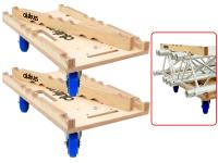 ALUTRUSS Transportwagen 2er-Set TRIO inkl. 6 Rollen