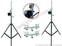 EUROLITE Stativ-Set 2xSTT-400/85 Kurbelstativ inkl. Adapter