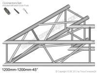 Duratruss DT 44 C19-L45 2-Weg Ecke 45° 120cm