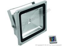 EUROLITE LED IP FL-50 COB RGB 120° m. IR-Fernbedienung silber