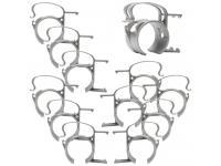 SNAP Befestigungsklammer 12er-Set silber für Steckdosenleiste