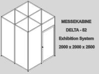 Messekabine DELTA-52/4 2,0 x 2,0 x 2,5m abschließbar