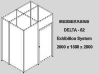 Messekabine DELTA-52/3 2,0 x 1,5 x 2,5m abschließbar