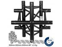 Duratruss DT 33/2 C41-X 4-Weg Kreuzstück 90° black