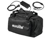EUROLITE 4er-Set AKKU Flat Light 3 silber + Soft-Bag+Ladegerät
