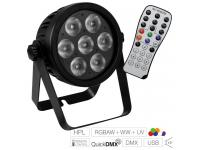 EUROLITE LED 7C-7 Silent Slim Spot  inkl. IR-Fernbedienung