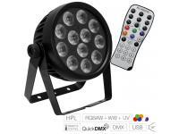 EUROLITE LED 7C-12 Silent Slim Spot  inkl. IR-Fernbedienung