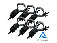 Duratruss Swivel Clamp 6er-Set DT Mini 360 für 50mm Rohr black