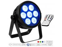 EUROLITE LED 4C-7 Silent Slim Spot inkl. IR-Fernbedienung