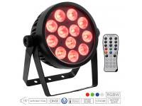 EUROLITE LED 4C-12 Silent Slim Spot inkl. IR-Fernbedienung