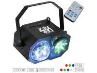 EUROLITE LED Mini FE-4 Hybrid Laserflower inkl. IR-Fernbedienung