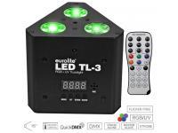 EUROLITE LED TL-3 RGB+UV Trusslight inkl. IR-Fernbedienung