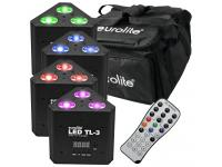 EUROLITE LED-Set 4xTL-3 RGB+UV Trusslight+Softbag+Fernbedienung