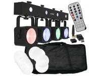 EUROLITE LED KLS-190 Kompakt-Lichtset inkl. QuickDMX USB+Tasche