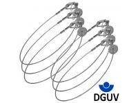 Duratruss DT Safety 6er-Set 3mm x 60cm 5kg DGUV silber