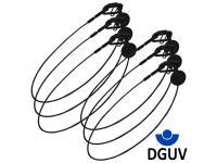 Duratruss DT Safety 6er-Set 2mm x 60cm 2kg DGUV black