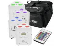 EUROLITE Set 4x AKKU TL-3 QuickDMX+Softbag - Fernbedienung weis