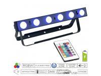 EUROLITE AKKU LED Bar-6 QCL RGBW inkl. IR-Fernbedienung