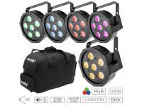 EUROLITE LED 5er-Set SLS-6 TCL Spot inkl. Soft Bag