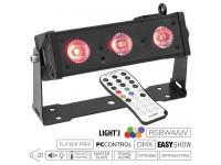 EUROLITE LED BAR-3 HCL Leiste inkl. IR-Fernbedienung
