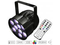 EUROLITE LED PAR-56 QCL Short schwarz inkl.  IR-7 Fernsteuerung